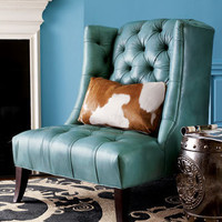 Old Hickory Tannery Tufted Chair & Pillow - Horchow
