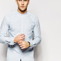 Selected Formal Grandad Shirt In Slim Fit