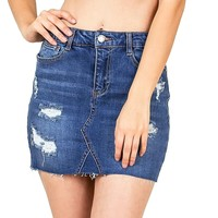 Storm Ripped Denim Mini