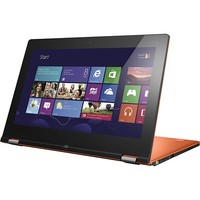 "Lenovo - IdeaPad Ultrabook Convertible 11.6"" Touch-Screen Laptop - 4GB Memory - 128GB Solid State Drive - Clementine Orange"