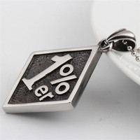 One Percenter Biker Club Pendant with Necklace