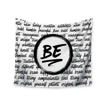 "Noonday Design ""Be..."" Black White Wall Tapestry"