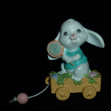 Hallmark Merry Miniature Easter Bunny Rabbit With Lollipop Figurine