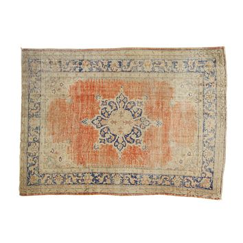 7x9 Vintage Distressed Oushak Carpet