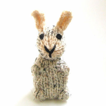 Miniature Bunny Amigurumi - Hand Knitted Stuffed Animal - Plush Doll - Kids Toy Rabbit