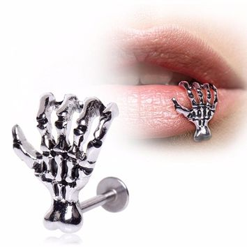 5pcs 8mm 316L Zombie Claw Labret Monroe Lip Ring Surgical Steel Labret Monroe 16G 5/16""