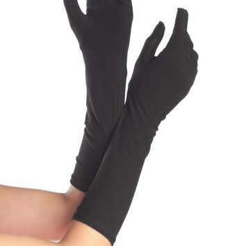 Red Mid Arm Opera Length Gloves