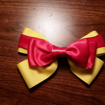 Winnie the Pooh inspired Disney hair bow