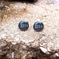 Sherlock 221B Stud Earrings