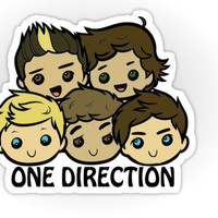 One Direction Cartoon sticker