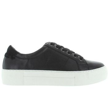 VONES2C J Slides Asher - Black Leather Lace-Up Platform Sneaker