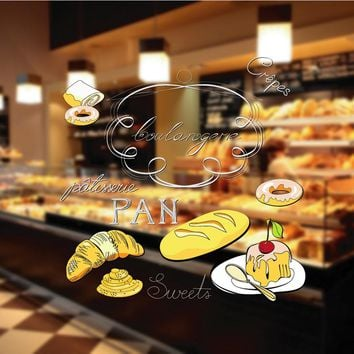 cik1081 Full Color Wall decal sweet food pastry shop bakery restaurant kitchen diner
