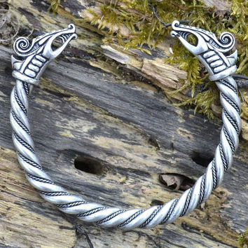 DREKI Celtic Viking DRAGON Jewelry BRACELET Jewellery Dragons Pagan Fantasy Pewter Tin Jewelry Jewel Jewellery Fashion Norse Vikings Sca