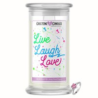 Live, Laugh, Love | Jewelry Greeting Candles