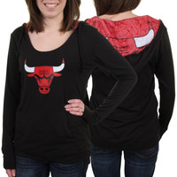 Chicago Bulls Ladies Sublime Night Hoodie - Black