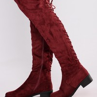 Stina Flat Boot - Wine