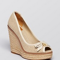 Tory Burch Platform Wedge Espadrille Pumps - Jackie