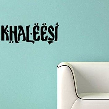 Game of Thrones Inspired Parody Khaleesi (Princess) Wall Decal Sticker
