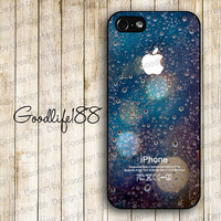 Custom iphone 5 case iphone 5 cover iphone 5 cases Hard case--the rain outside the glass in the light Image Printing