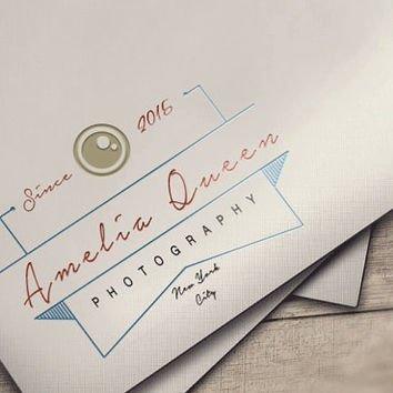 Vintage Photography Logo,Photography Logo Design,Logo, Camera Logo, Watermark Logo, Instant download logo psd file template