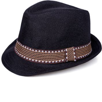 Black And Brown Baby Prop Fedora Hat - CCHT119