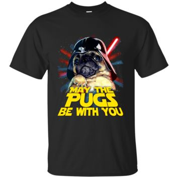 May The Pugs Be With You T-Shirt G200 Gildan Ultra Cotton T-Shirt