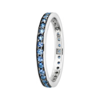 Memory Ring Romance in white gold, blue sapphires | Rings RenéSim
