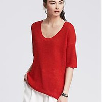 Scoop-Neck Pullover | Banana Republic