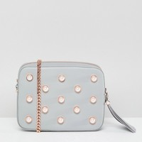Ted Baker Pearl Embellished Camera Bag in Leather at asos.com