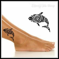 Temporary Tattoo 1 Fish Ankle Tattoos Wrist Tattoo