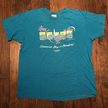 Vintage Vintage 90s 1990 Bay To Breakers Tortoise & Hare Race Shirt Made In Usa Mens Size Xl Size Xl $30