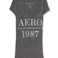 Aeropostale  Empire State 1987 V-Neck Graphic T