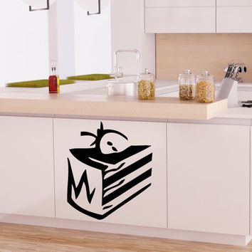 Bon Appetit Sweet Cake Kitchen Wall Decal Vinyl Sticker  Wall Decor Home Interior Design Cafe Restaurant NA56