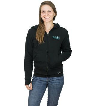 Embroidered New Style Sherpa Women's Zipper Hoodie