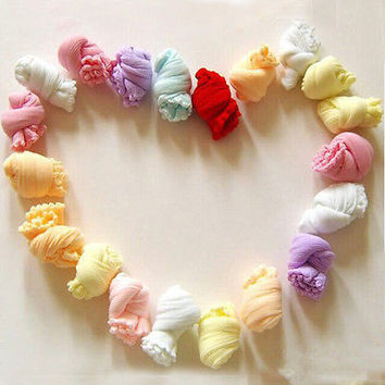 NEW 10 Pair Lovely Newborn Baby Girls Boys Soft Socks Mixed Colors Unique design