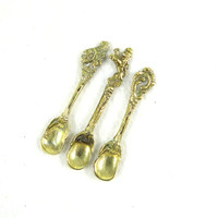 Vintage Brass Montagnani Style Salt Spoons from Italy