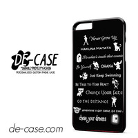 Disney Best Lessons DEAL-3294 Apple Phonecase Cover For Iphone 6/ 6S Plus