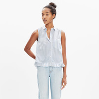 PAGODA CROP SHIRT IN STRIPE