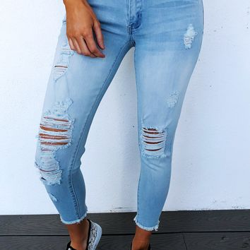 Rise Up Jeans: Light Denim