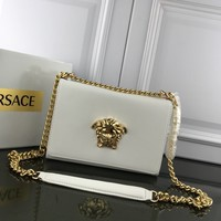 DCCK2 1212 Versace Medusa Logo Simple organ bag Handbag white gold