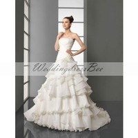 Gorgeous strapless A-line wedding dress