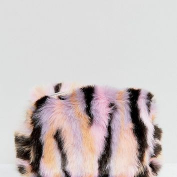 Monki Fluffy Make Up Bag at asos.com