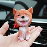 Car-Styling Shaking Head Dog Car Ornament Resin Automobile Dashboard Swing Nodding Head Dog Doll Decoration Ornaments Toys Gift