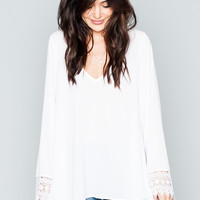 Show Me Your mumu Mal Top ~ White Crisp
