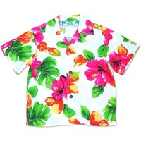 Hoopla White Hawaiian Boy Shirt