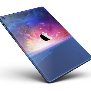 """Galaxy Explosion over Calm Sea Shore Full Body Skin for the iPad Pro (12.9"""" or 9.7"""" available)"""