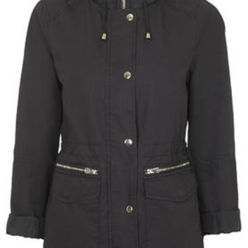 Double Zip Lightweight Jacket - Navy Blue