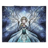 "Mandie Manzano ""The Snow Queen"" Frozen Fleece Throw Blanket"