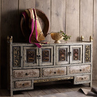 Gray Antique Kang Cabinet - Horchow