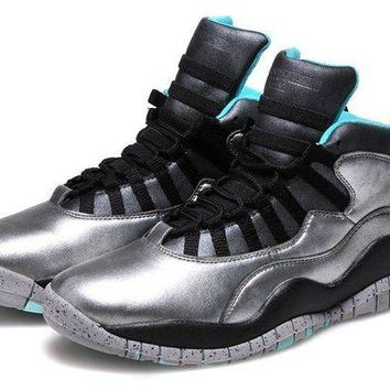 ONETOW Jacklish Air Jordan 10 Retro Lady Liberty Cement Grey/black-tropical Teal Remastered